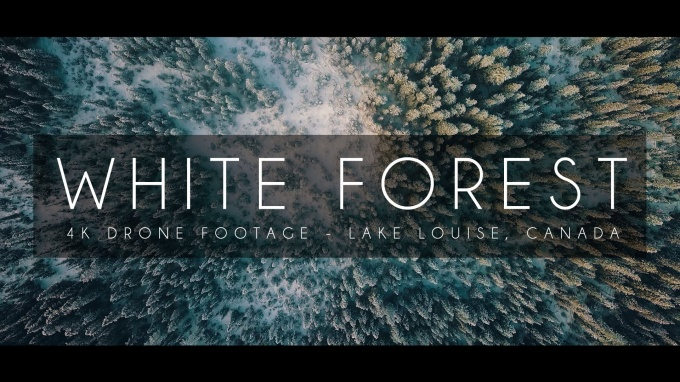White Forest – Drone Footage at Lake Louise, Canada