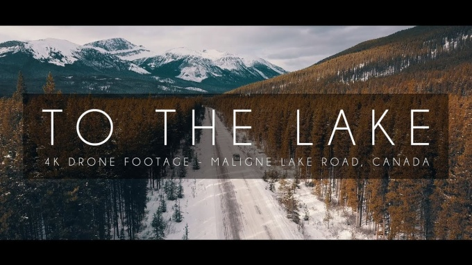 To the Lake – Drone Footage at Jasper, Canada